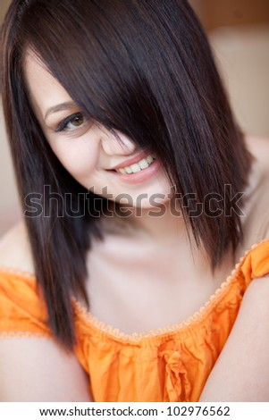 Casual portrait of young beautiful woman