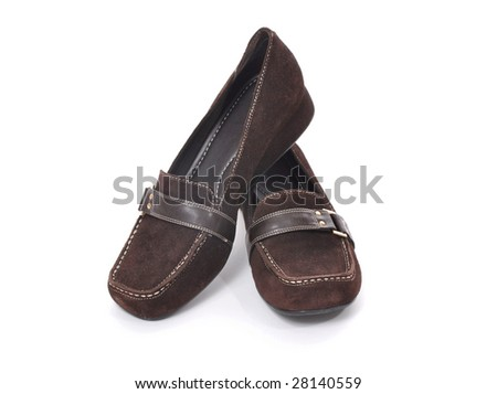 Casual shoes on a white background