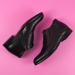 Casual stylish shoes, footwear, mens shoes. Top view