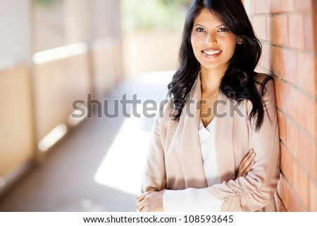 casual young attractive university business school student portrait