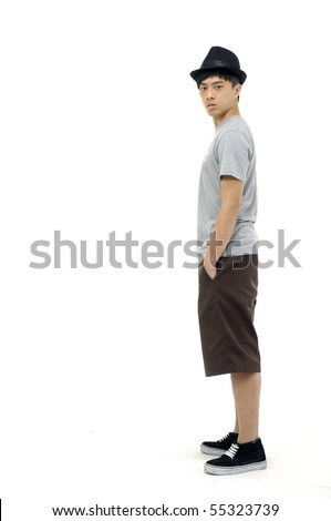 casual young man full body, - stock photo