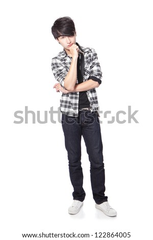 Young Casual Man Full Body Isolated On White Background ...