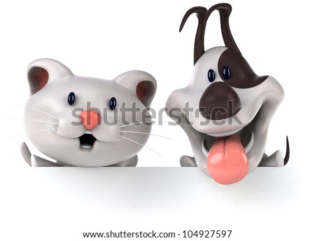 Stock Photo Cat and dog
