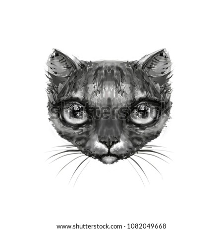 Cat Avatar Head #1082049668
