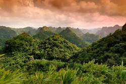 Cat Ba National Park, view from the Ngu Lam peak, Kim Giao forest, UNESCO Biosphere Reserve, Vietnam, Southeast Asia