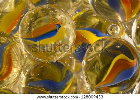 Cat Eye Marbles In Soda