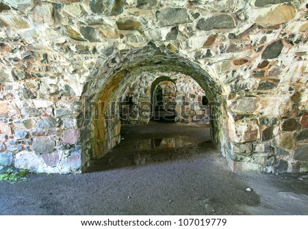 Catacombs in Fort Suomenlinna, Sveaborg, Helsinki, Finland - UNESCO World Heritage Site