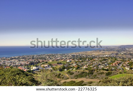 Catalina Island taken from Misty Ridge in San Clemente California