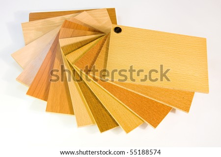 catalog wood colors on white background