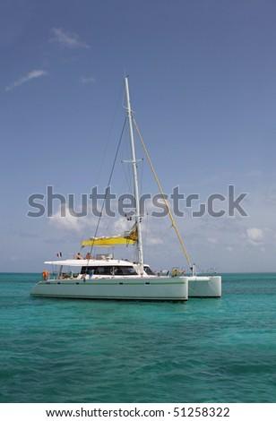 catamaran in the dominican sea