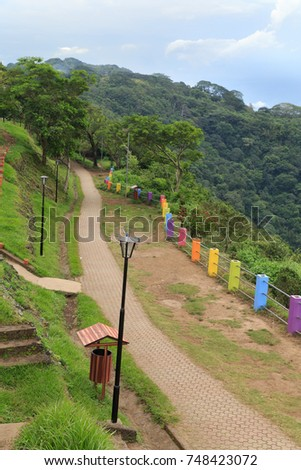 Catarina Viewpoint park nature trail, Nicaragua. #748423072