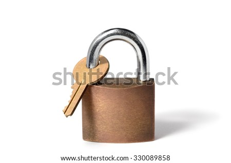 Catch-22, represented by padlock locking its own key #330089858