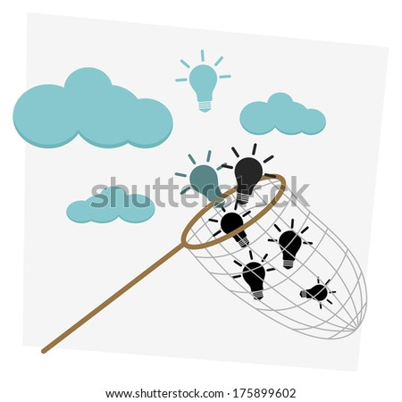 Catching Business Idea - Illustration