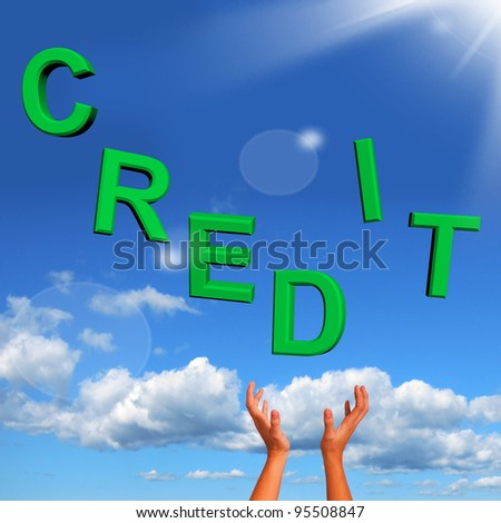 Catching Credit Letters As Symbol For Financial Loans