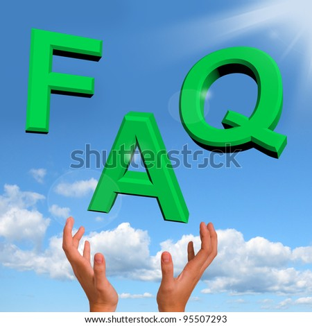 Catching FAQ Letters Showing Information Questions And Answers