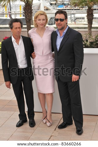 Cate Blanchett & Russell Crowe  at the 63rd Festival de Cannes where their movie \
