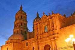 Catedral de Durango crepusculo