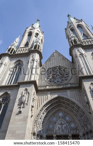 Catedral Metropolitana de Sao Paulo front view #158415470