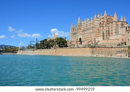 Catedral y Almudaina. Palma de Mallorca - stock photo