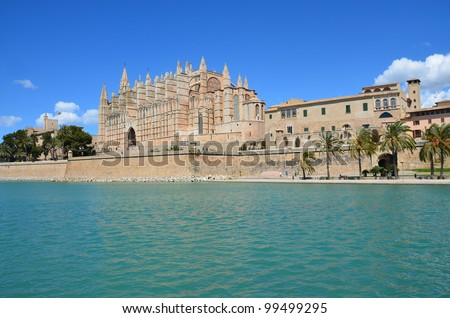 Catedral y Almudaina. Palma de Mallorca - stock photo