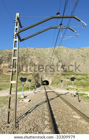 Catenary and railway