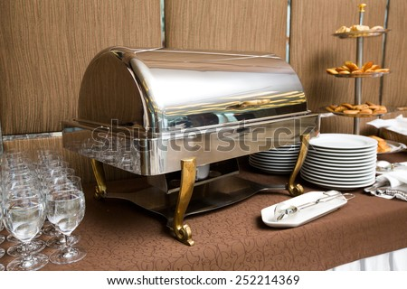 Catering - buffet dish warming tray luxury style