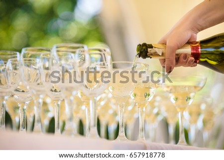 catering. Outdoor served alcohol bar. Glasses #657918778