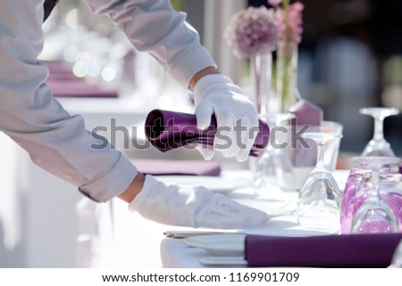 Catering Service, Hotel Tabel covering  Сток-фото ©