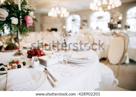 Catering Service Restaurant Table With Food Wedding Celebration