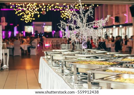 catering wedding event plate service ストックフォト ©