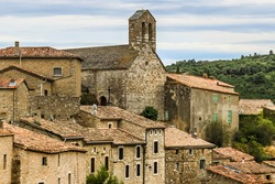Cathar village Minerve France. Minerve is one of the 20 most beautiful villages in France. Minerva is located on a rocky peninsula with difficult access. Haut-Languedoc Regional Natural Park .