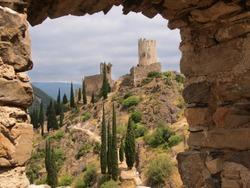 Cathars ruins of Chateau de Lastours