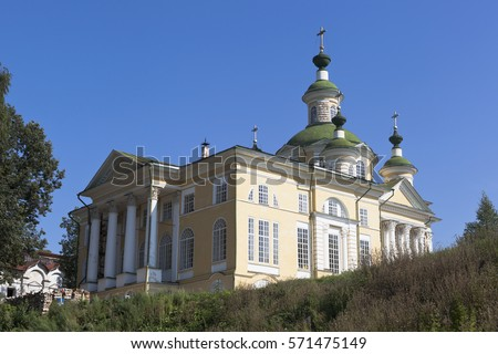 Cathedral Ascension of the Lord of the Savior-Sumorin monastery in the town of Totma, Vologda Region, Russia #571475149