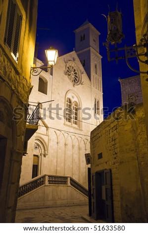 Cathedral at dusk. Giovinazzo. Apulia.