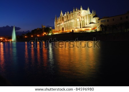 cathedral at night, Majorca