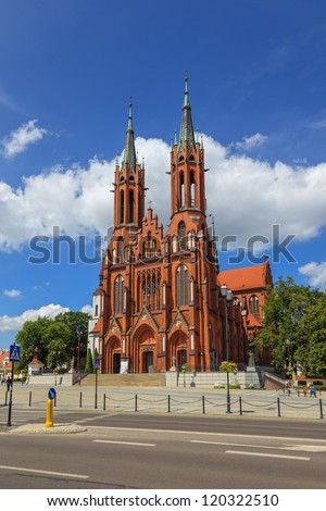 Cathedral Basilica of the Assumption of the Blessed Virgin Mary in Bialystok, Poland.