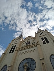 Cathedral chruch with gothic architecture