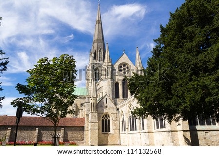 Cathedral Church of the Holy Trinity at Chichester (Chichester Cathedral), West Sussex England UK