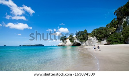 Cathedral Cove marine reserve on the Coromandel Peninsula in New Zealand