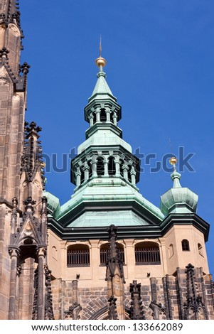 cathedral cupola in Prague in nice day