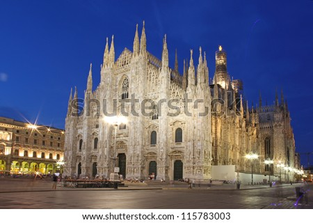 Cathedral Dome taken Milan in the evening, Italy