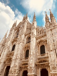 Cathedral Duomo in Milano. 8 june 2018