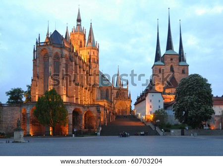 cathedral hill of Erfurt Germany