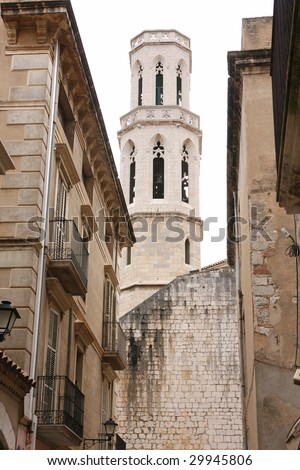 Cathedral Iglesia de Sant Pere ? Figueres, Spain - stock photo