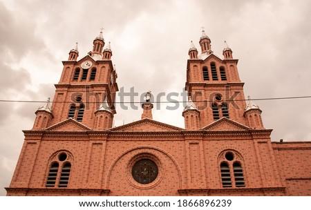 Cathedral in Colombia -Buga -church ' Basilica Del Señor de los Milagros' Foto stock ©