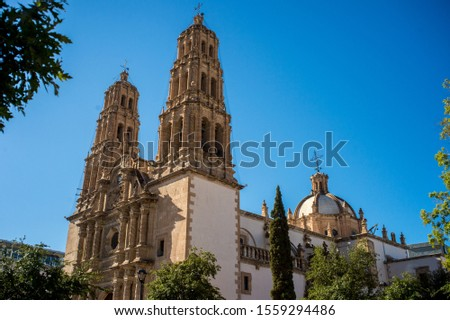 Cathedral in downtown of Chihuahua, Chihuahua, Mexico #1559294486