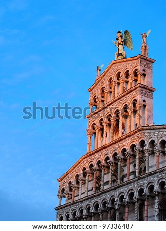 Cathedral in Lucca, Italy