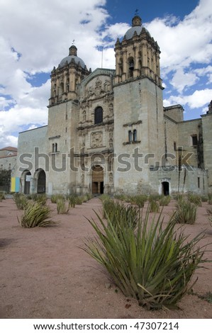 Cathedral in Oaxaca city, Mexico