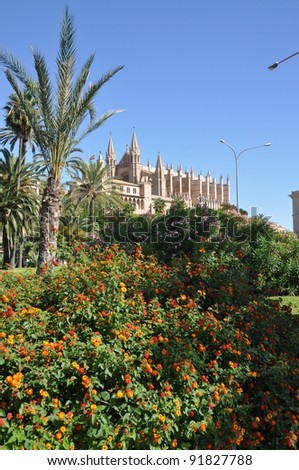 Cathedral in Palma - stock photo