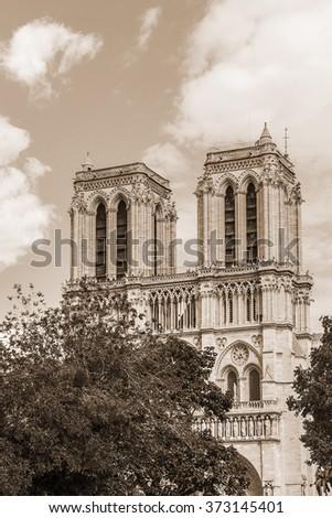 View Of Cathedral Notre Dame De Paris A Most Famous Gothic